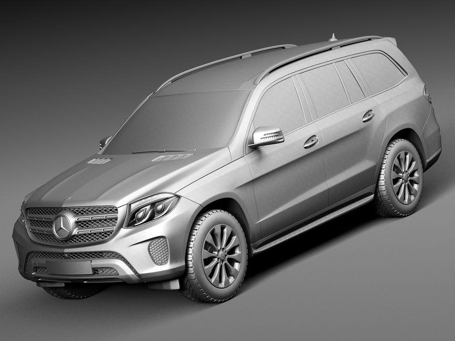 Mercedes-Benz GLS 2017 royalty-free 3d model - Preview no. 9