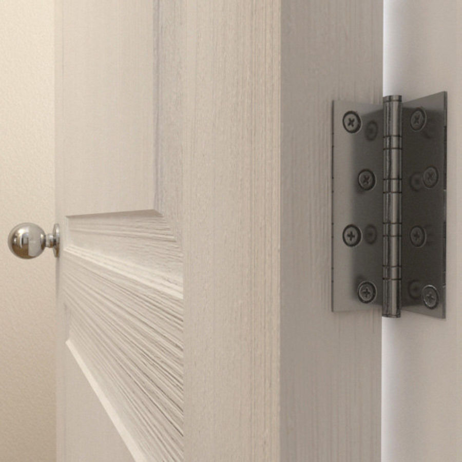 Дверь - 1 стеклянная панель с мунтинами royalty-free 3d model - Preview no. 5
