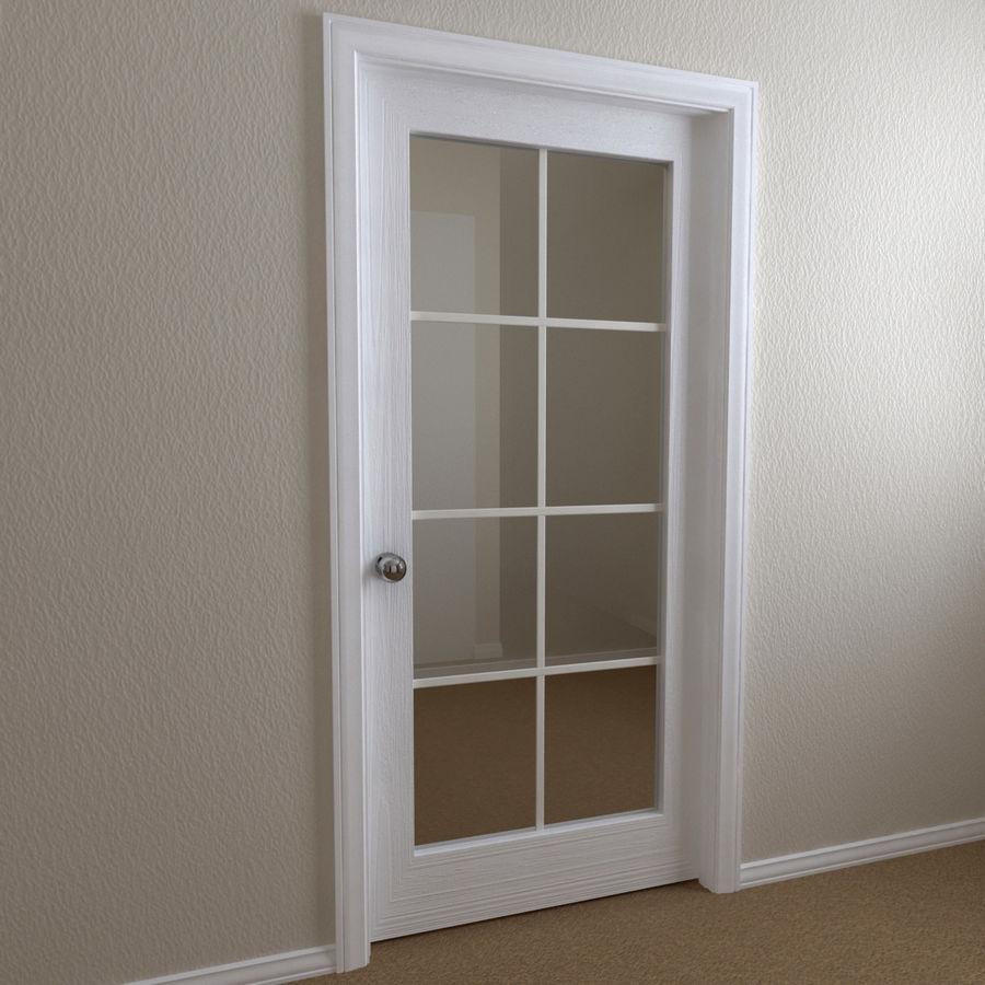 Дверь - 1 стеклянная панель с мунтинами royalty-free 3d model - Preview no. 1