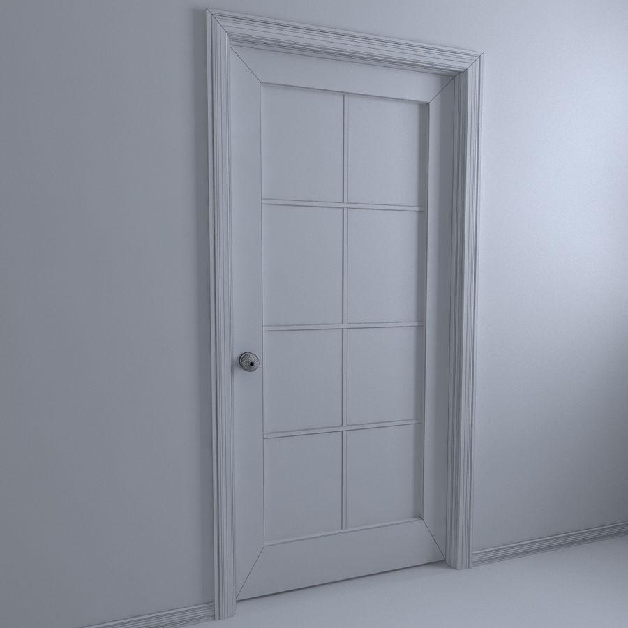 Дверь - 1 стеклянная панель с мунтинами royalty-free 3d model - Preview no. 4