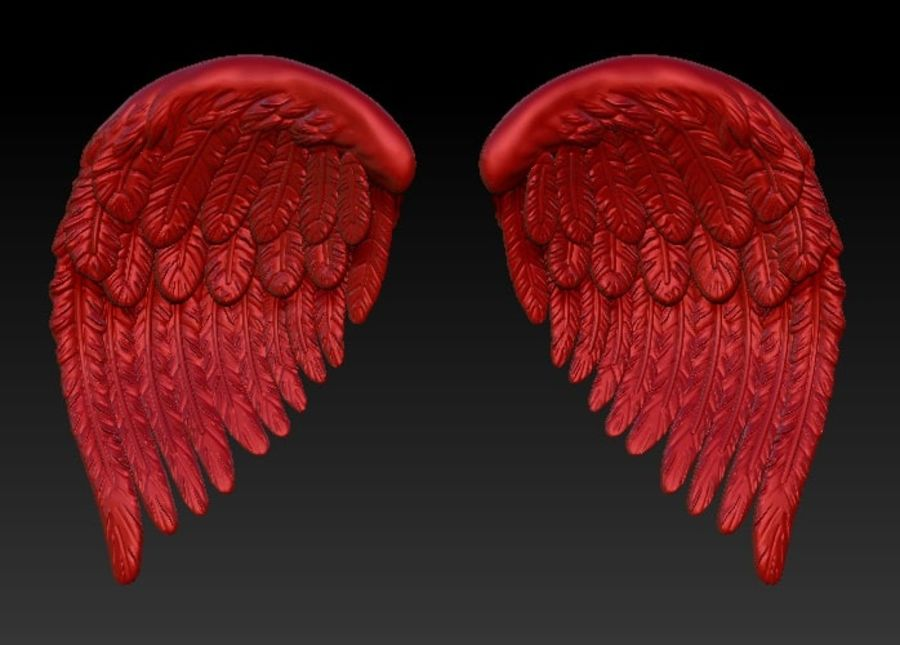 Bird wings royalty-free 3d model - Preview no. 2