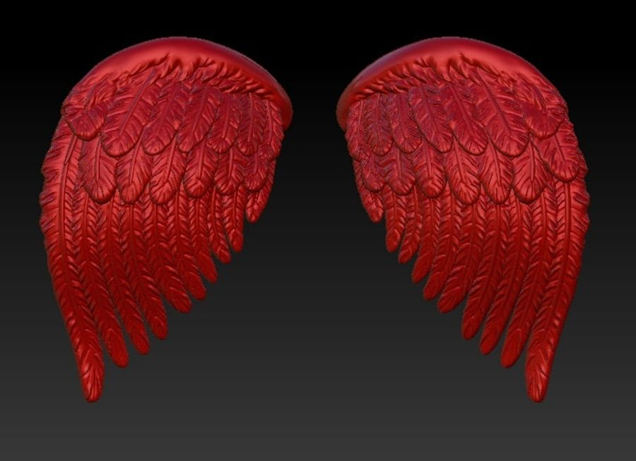 Bird wings royalty-free 3d model - Preview no. 4