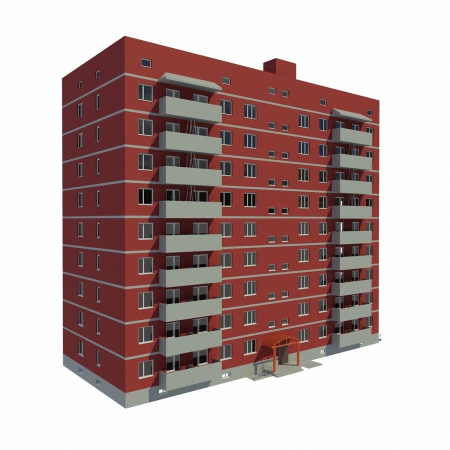 多层建筑 royalty-free 3d model - Preview no. 3