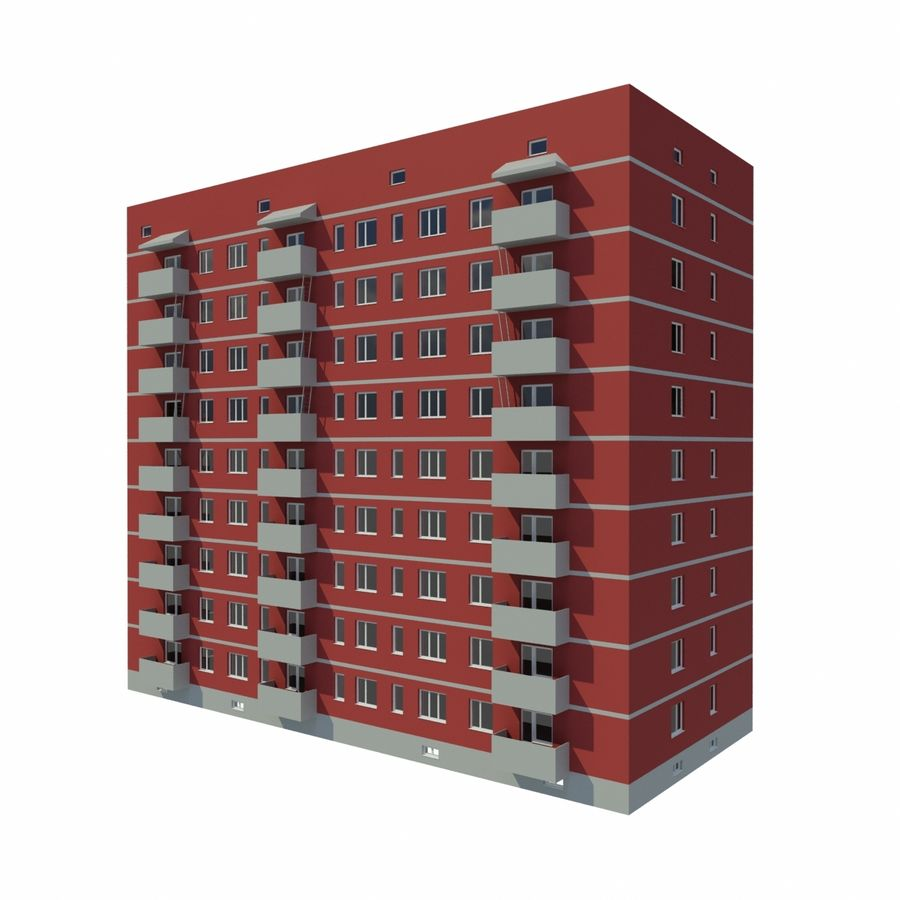 多层建筑 royalty-free 3d model - Preview no. 2