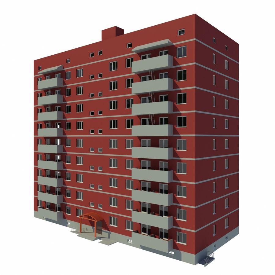 多层建筑 royalty-free 3d model - Preview no. 4