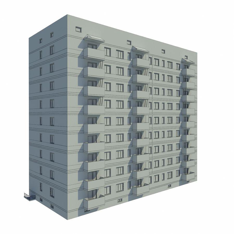 多层建筑 royalty-free 3d model - Preview no. 6