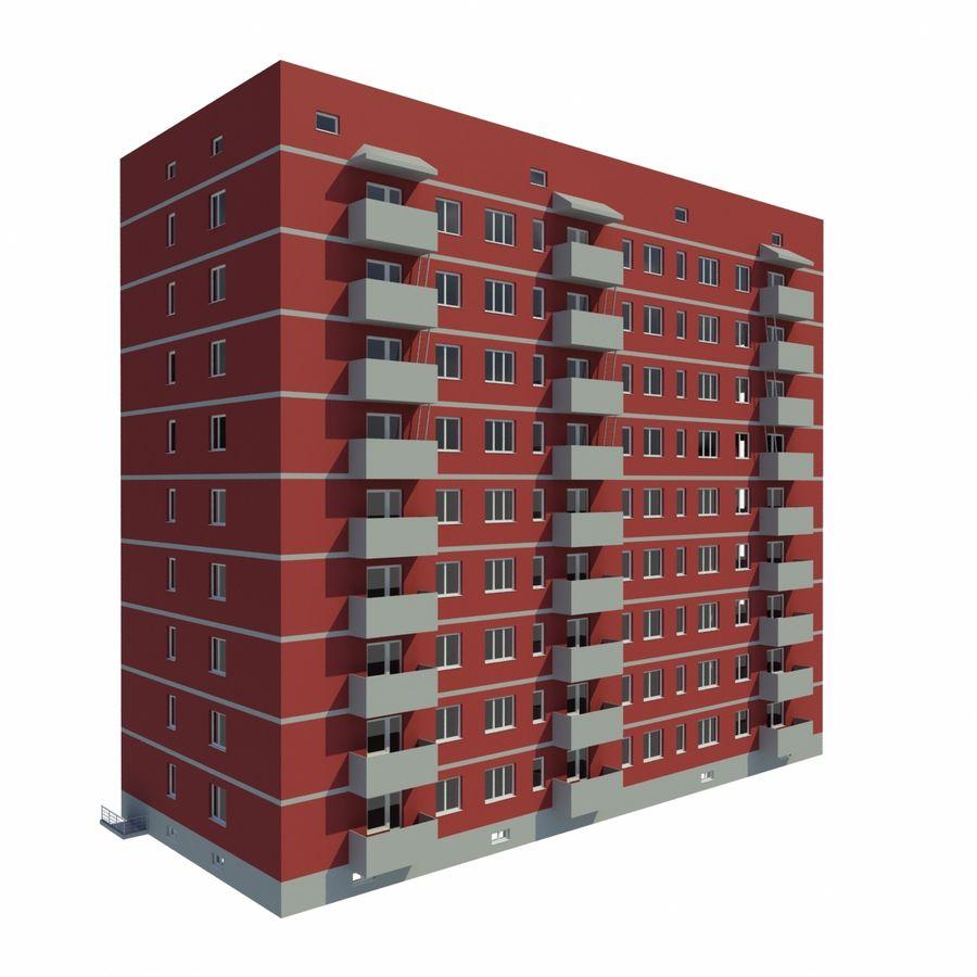 多层建筑 royalty-free 3d model - Preview no. 1