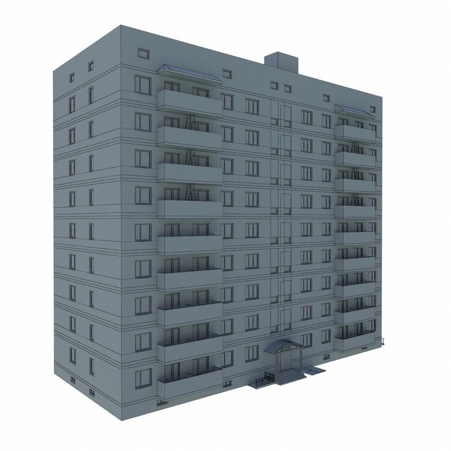 多层建筑 royalty-free 3d model - Preview no. 7