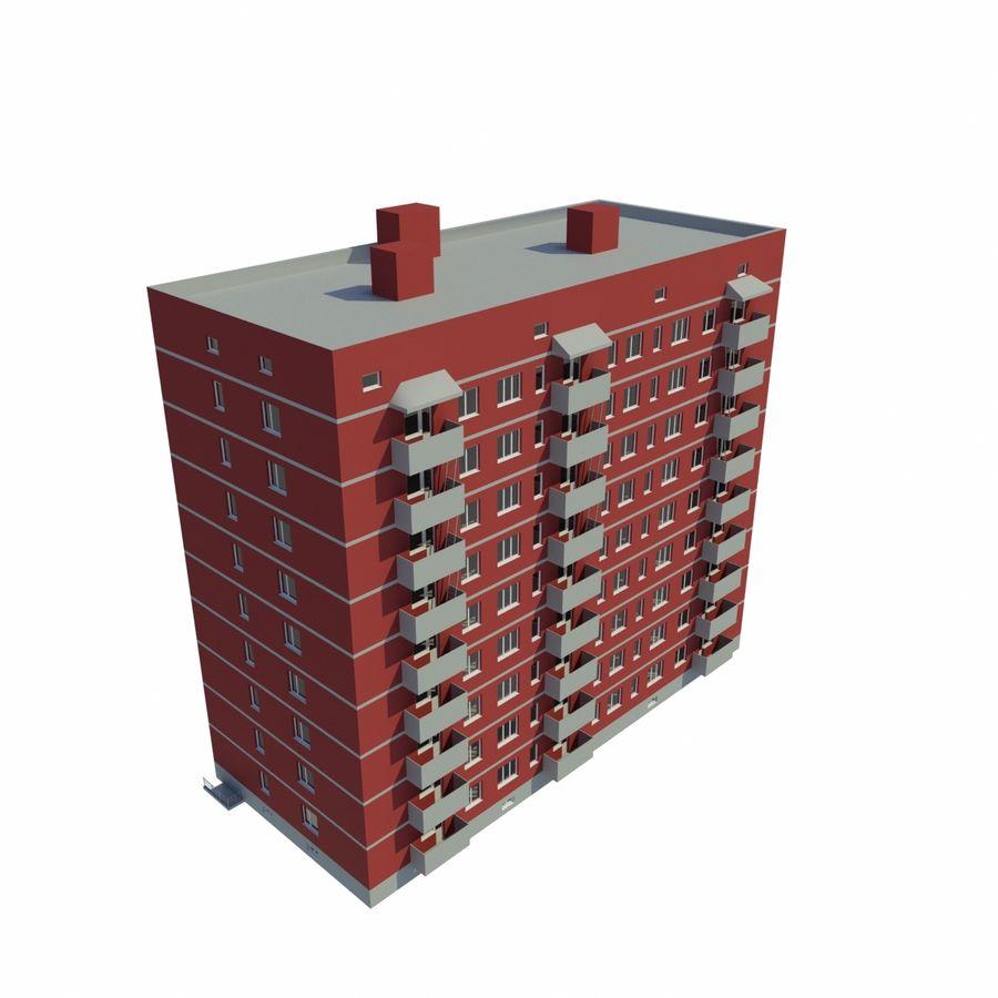 多层建筑 royalty-free 3d model - Preview no. 5