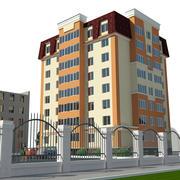 Жилой дом 3d model