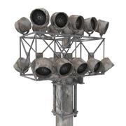 照明塔 3d model