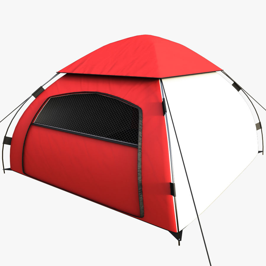 camping tent 5 royalty-free 3d model - Preview no. 1