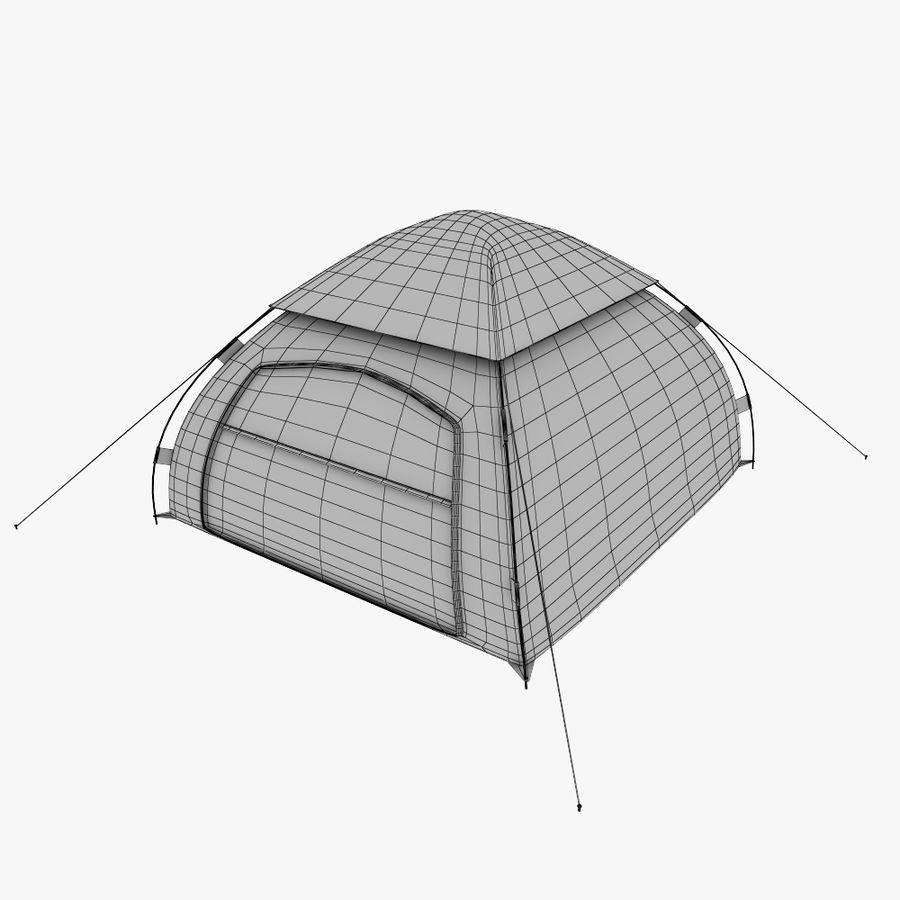 camping tent 5 royalty-free 3d model - Preview no. 8