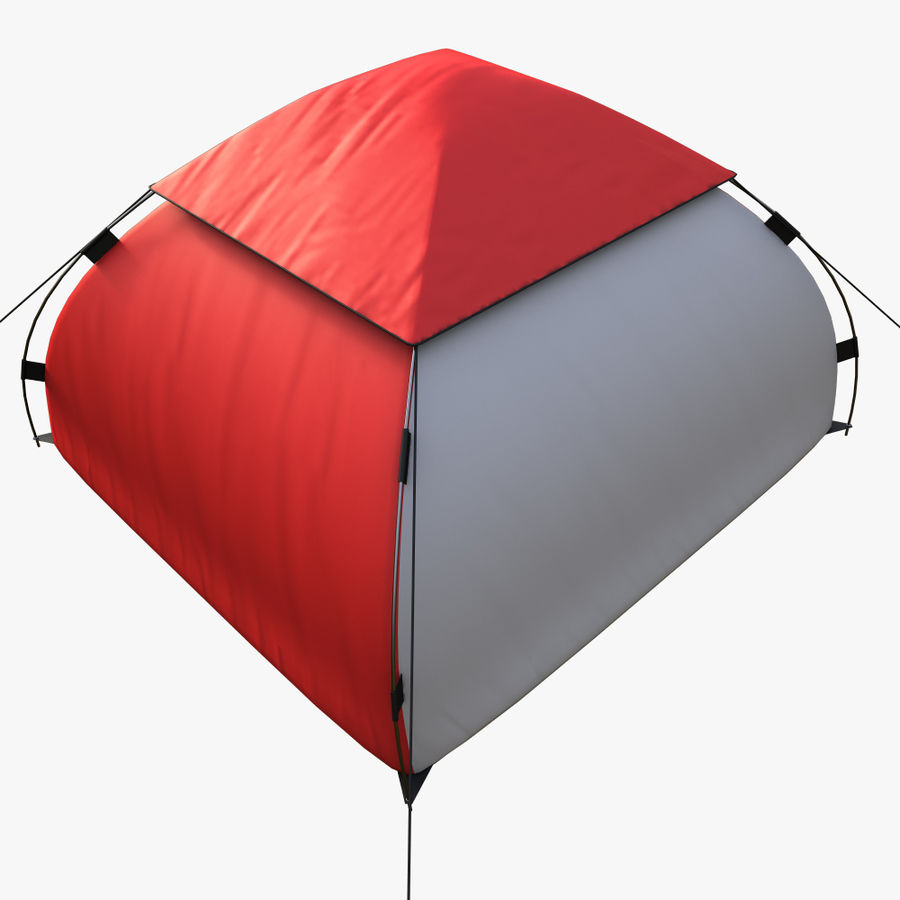 camping tent 5 royalty-free 3d model - Preview no. 4