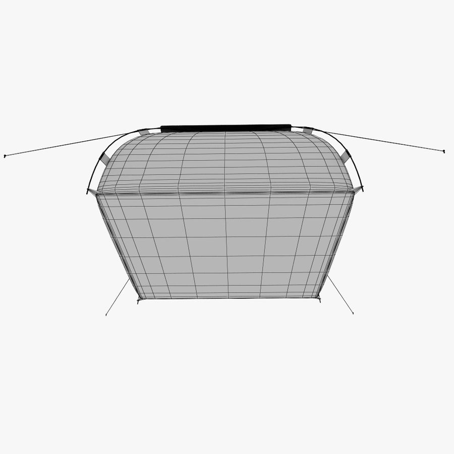 camping tent 5 royalty-free 3d model - Preview no. 10