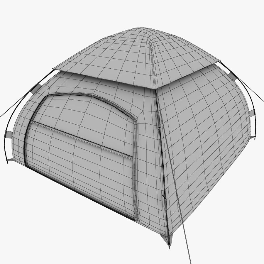 camping tent 5 royalty-free 3d model - Preview no. 7