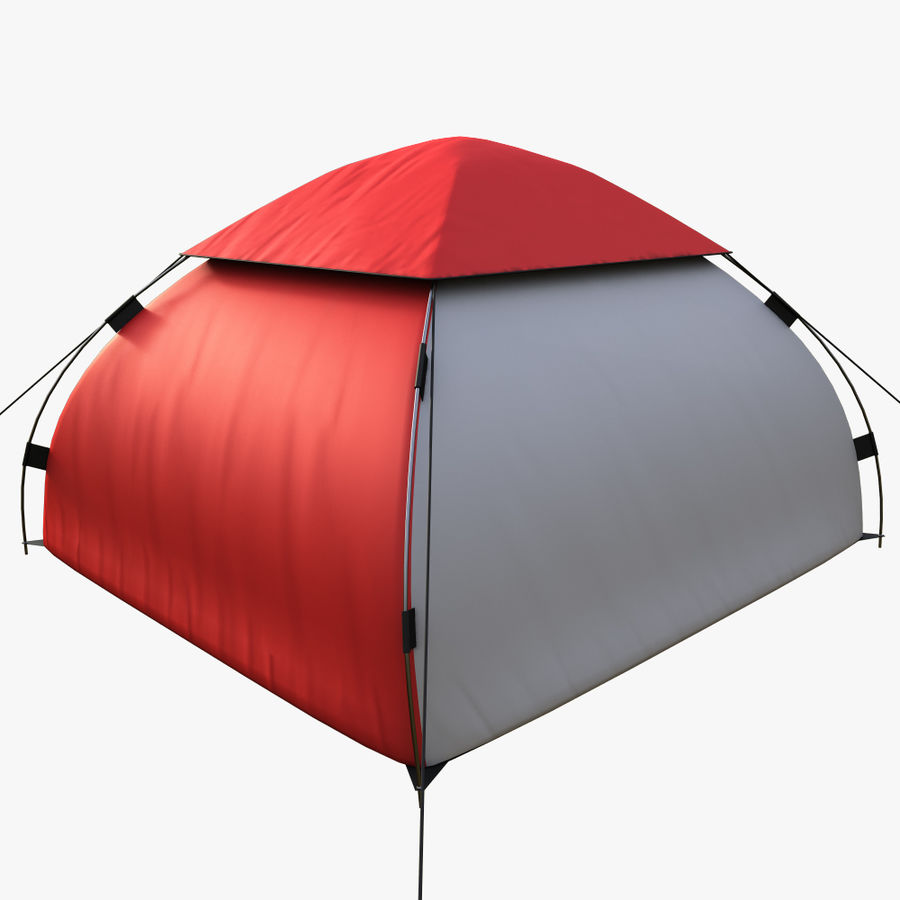 camping tent 5 royalty-free 3d model - Preview no. 3