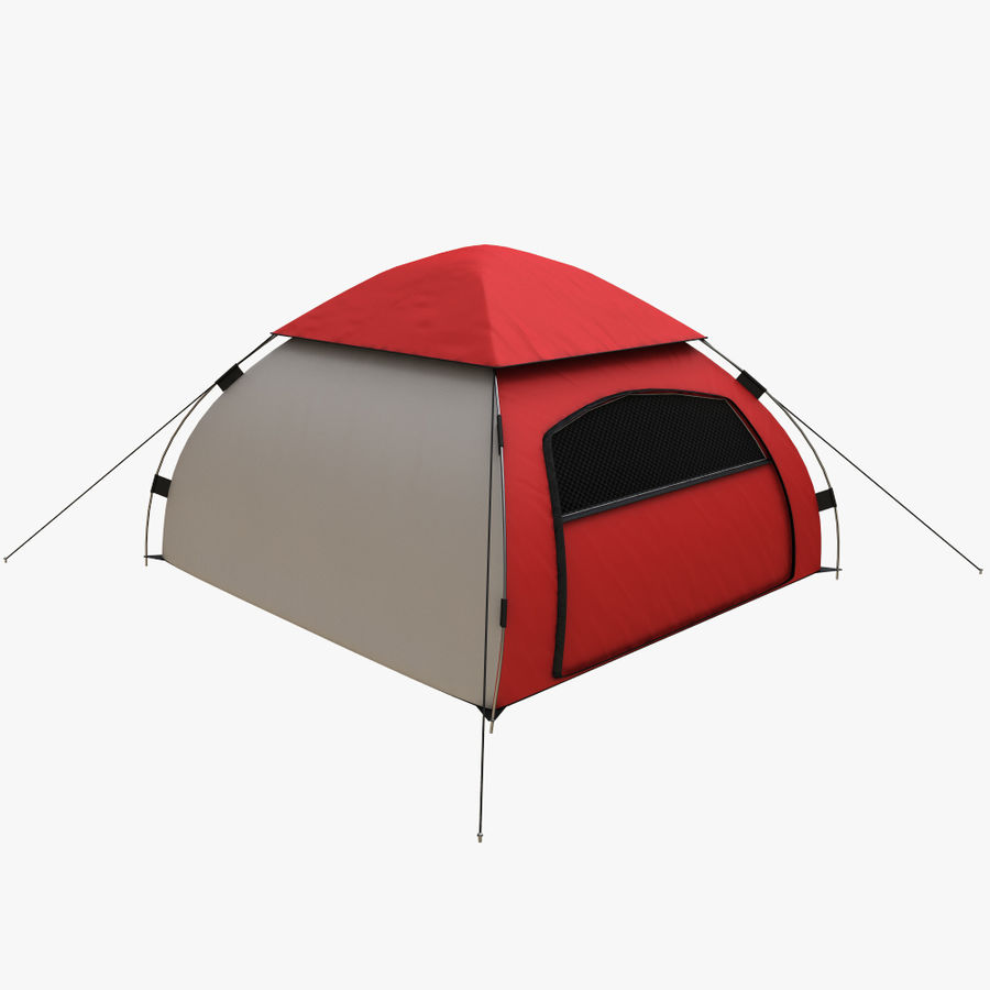 camping tent 5 royalty-free 3d model - Preview no. 2