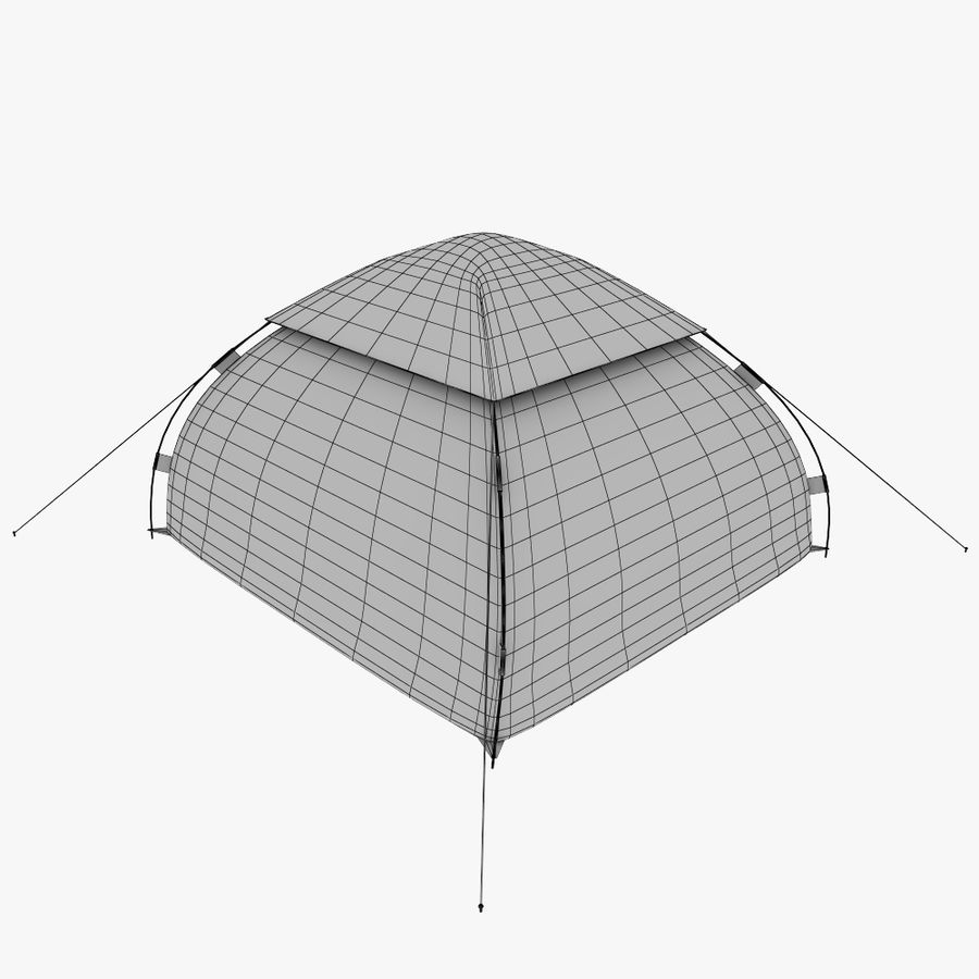 camping tent 5 royalty-free 3d model - Preview no. 9