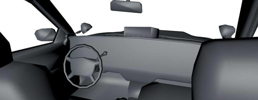 Низкополигональная полицейская машина royalty-free 3d model - Preview no. 4