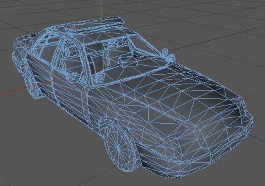 Низкополигональная полицейская машина royalty-free 3d model - Preview no. 5
