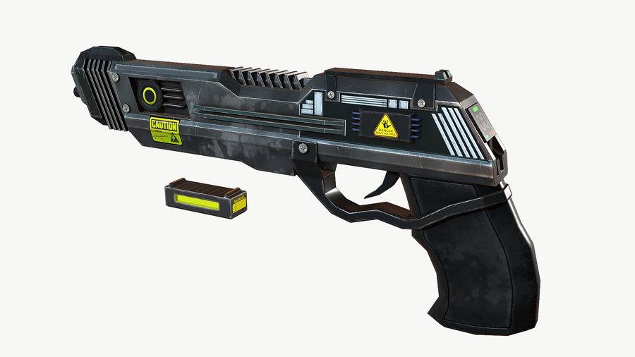 Sci-Fi Pistol Low Poly royalty-free 3d model - Preview no. 2