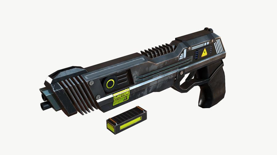 Sci-Fi Pistol Low Poly royalty-free 3d model - Preview no. 6