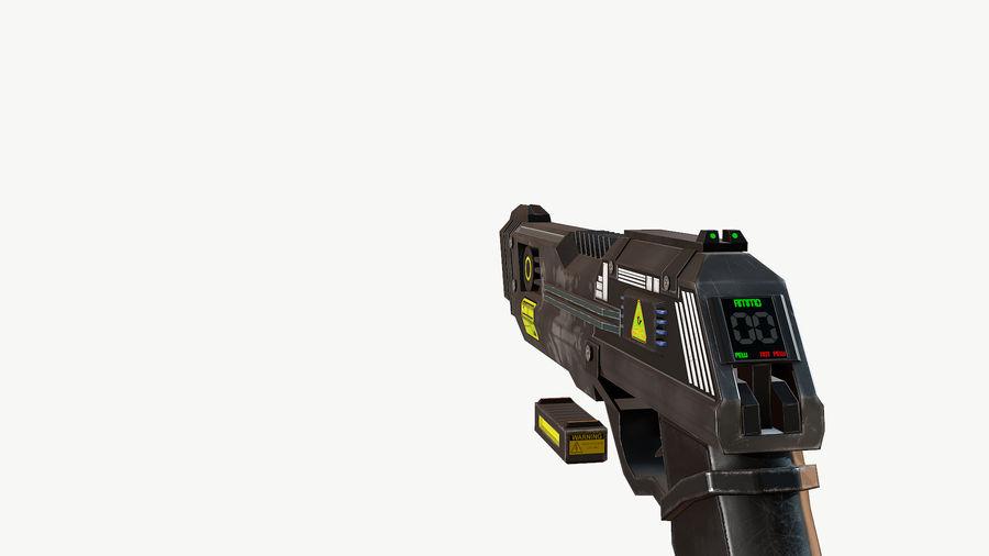 Sci-Fi Pistol Low Poly royalty-free 3d model - Preview no. 7