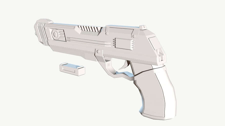 Sci-Fi Pistol Low Poly royalty-free 3d model - Preview no. 15