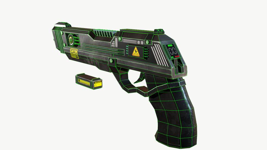 Sci-Fi Pistol Low Poly royalty-free 3d model - Preview no. 11