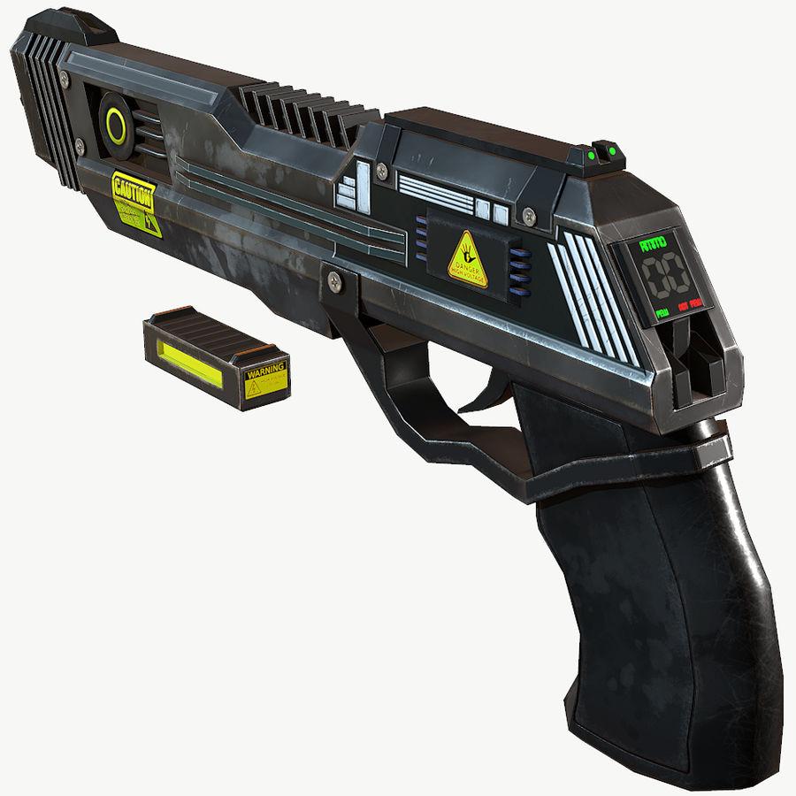 Sci-Fi Pistol Low Poly royalty-free 3d model - Preview no. 1
