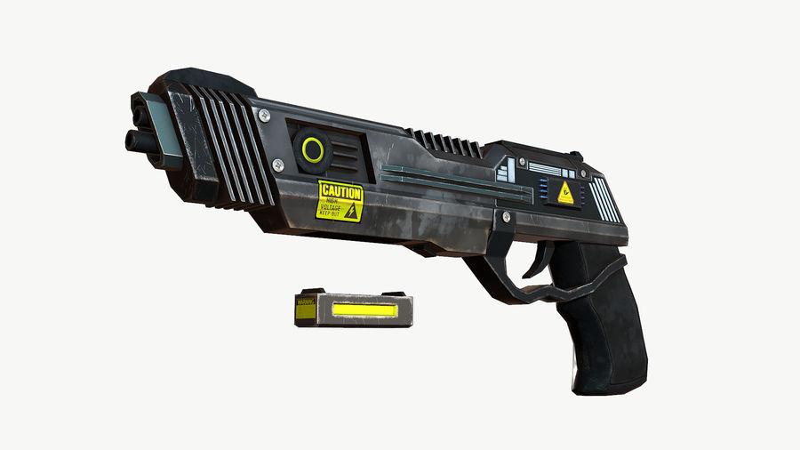 Sci-Fi Pistol Low Poly royalty-free 3d model - Preview no. 4