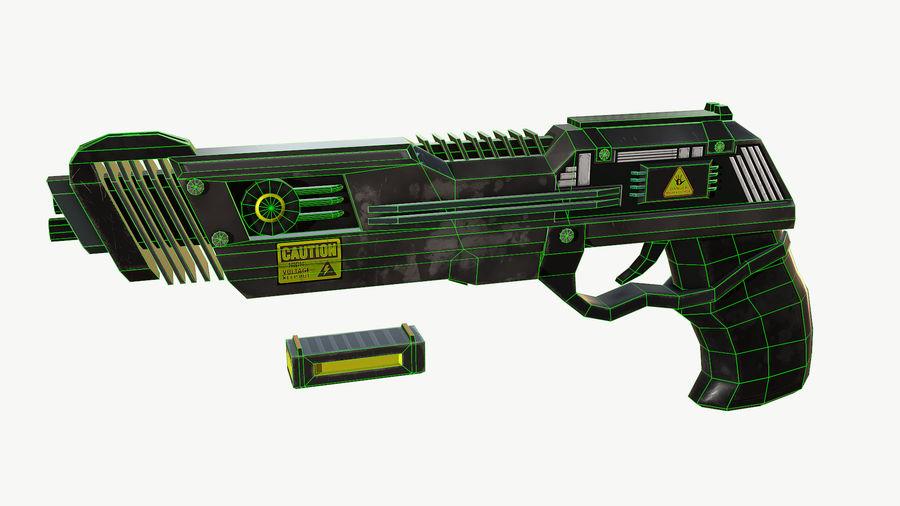 Sci-Fi Pistol Low Poly royalty-free 3d model - Preview no. 10