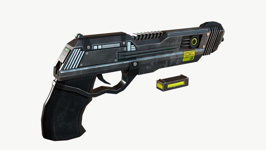 Sci-Fi Pistol Low Poly royalty-free 3d model - Preview no. 8