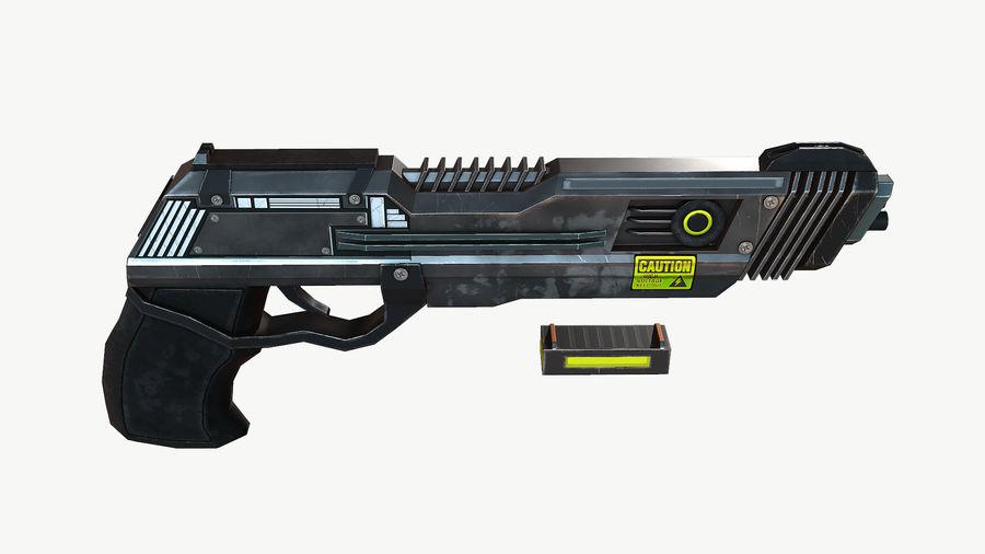 Sci-Fi Pistol Low Poly royalty-free 3d model - Preview no. 9