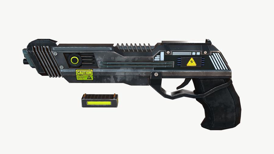Sci-Fi Pistol Low Poly royalty-free 3d model - Preview no. 3