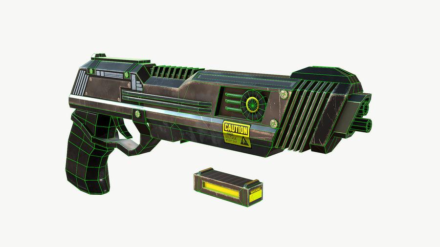 Sci-Fi Pistol Low Poly royalty-free 3d model - Preview no. 13