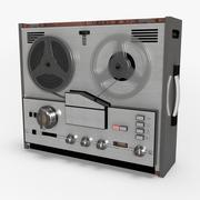 Retro Reel Audio Tape Recorder 3d model