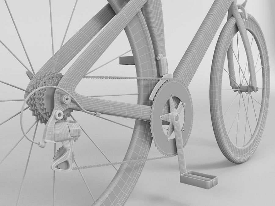 RACING BIKE royalty-free 3d model - Preview no. 8