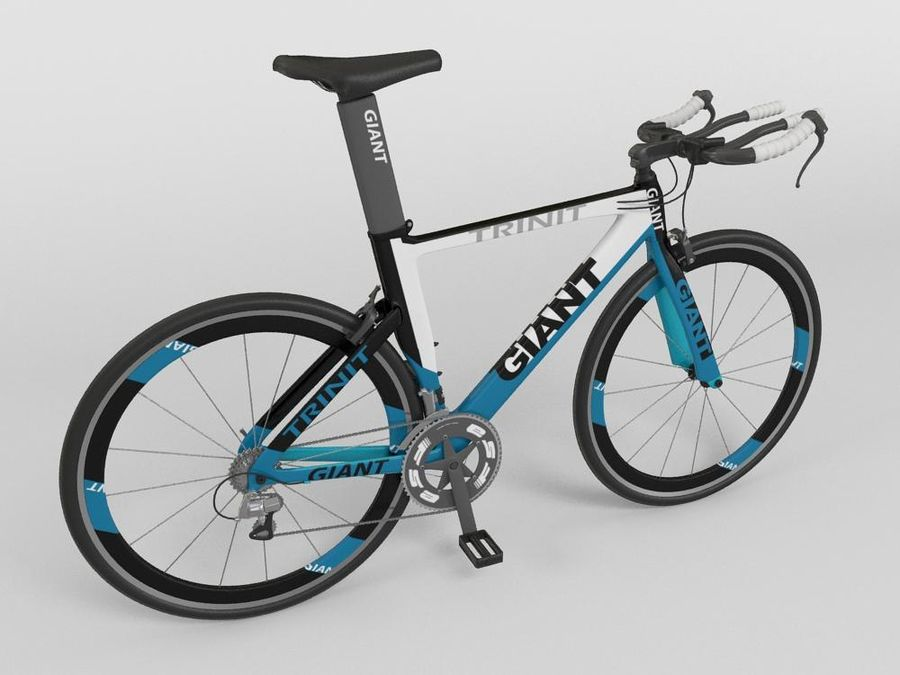 RACING BIKE royalty-free 3d model - Preview no. 1