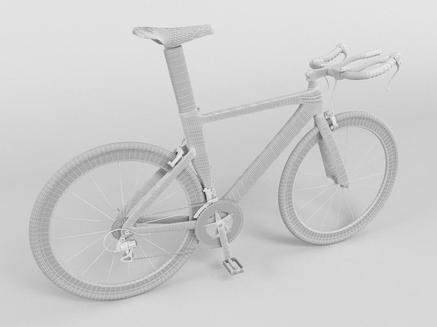 RACING BIKE royalty-free 3d model - Preview no. 2