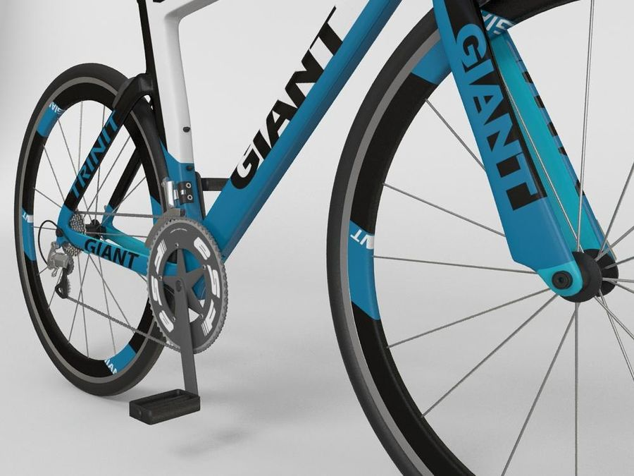 RACING BIKE royalty-free 3d model - Preview no. 3