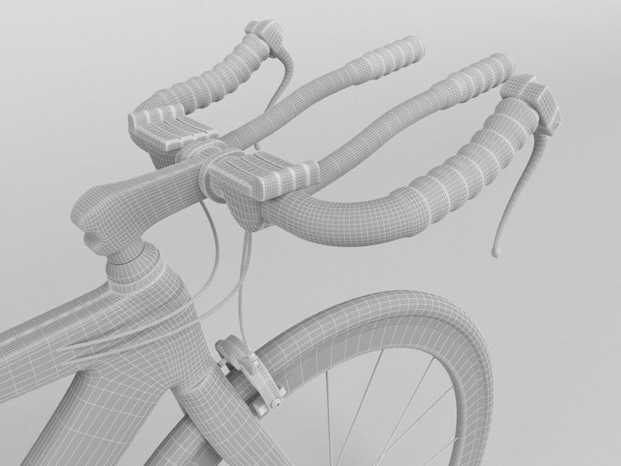 RACING BIKE royalty-free 3d model - Preview no. 6