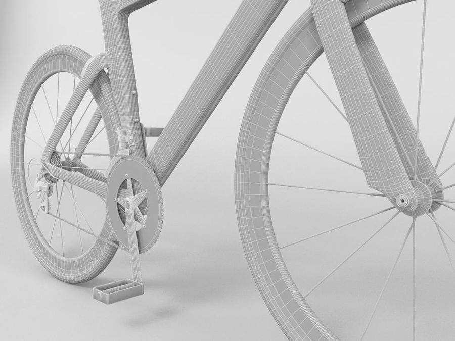 RACING BIKE royalty-free 3d model - Preview no. 4
