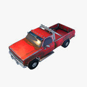 Old Car 3 (low poly) 3d model