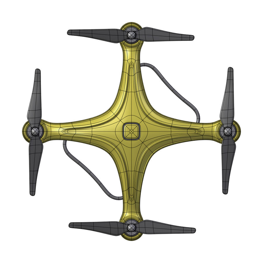 Gneneric Quadcopter Drone V1 royalty-free 3d model - Preview no. 8