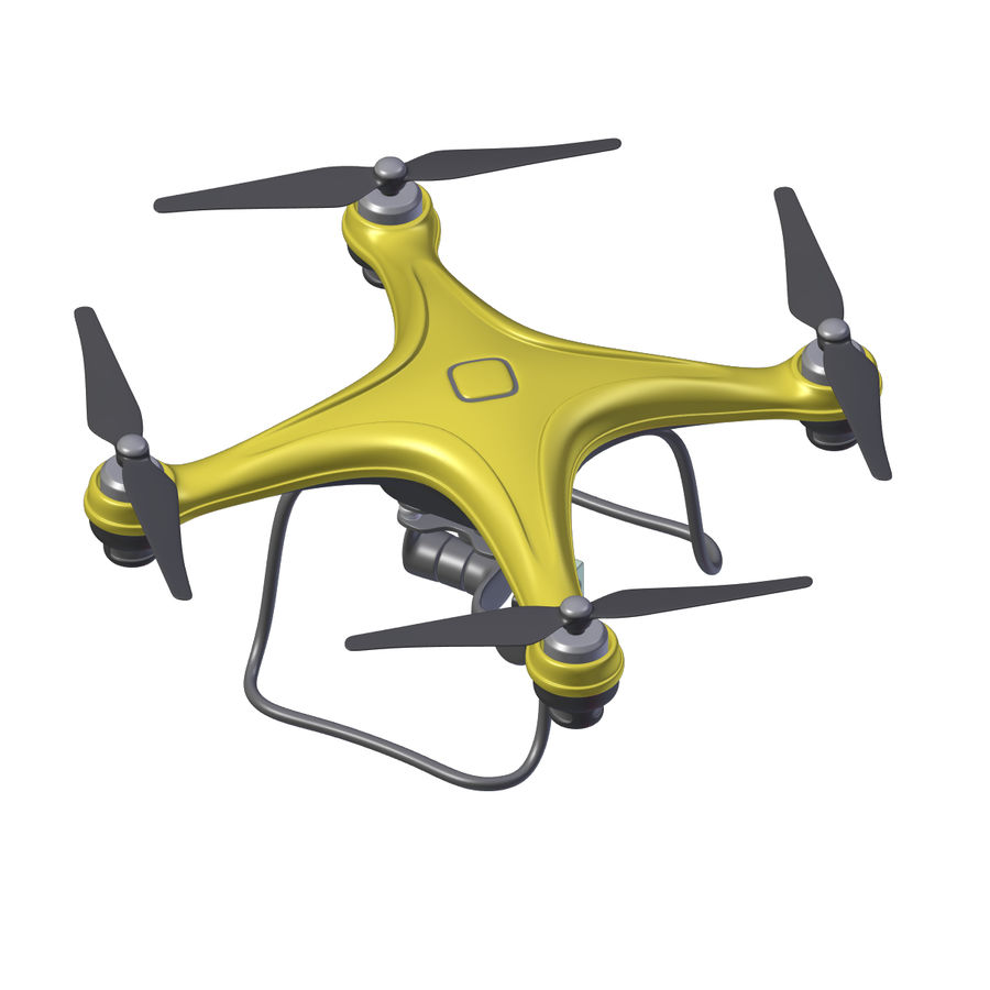 Gneneric Quadcopter Drone V1 royalty-free 3d model - Preview no. 19
