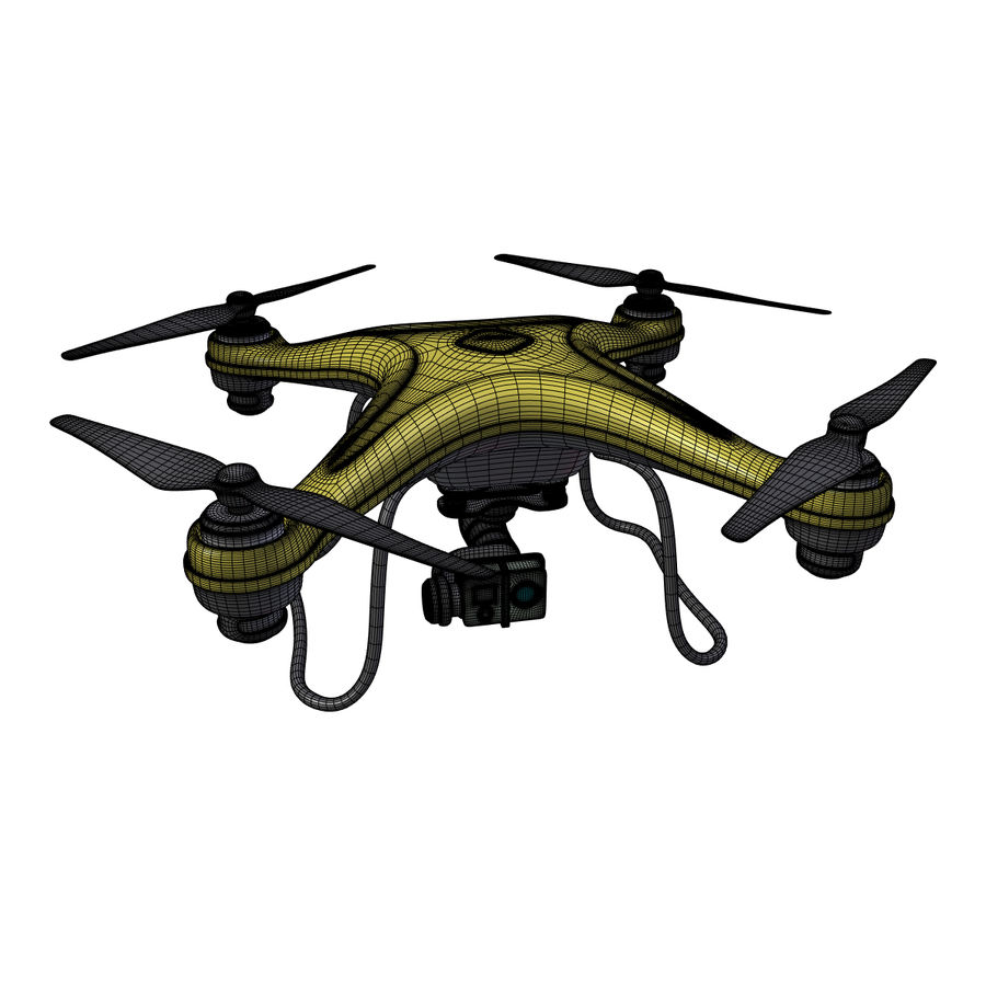 Gneneric Quadcopter Drone V1 royalty-free 3d model - Preview no. 6