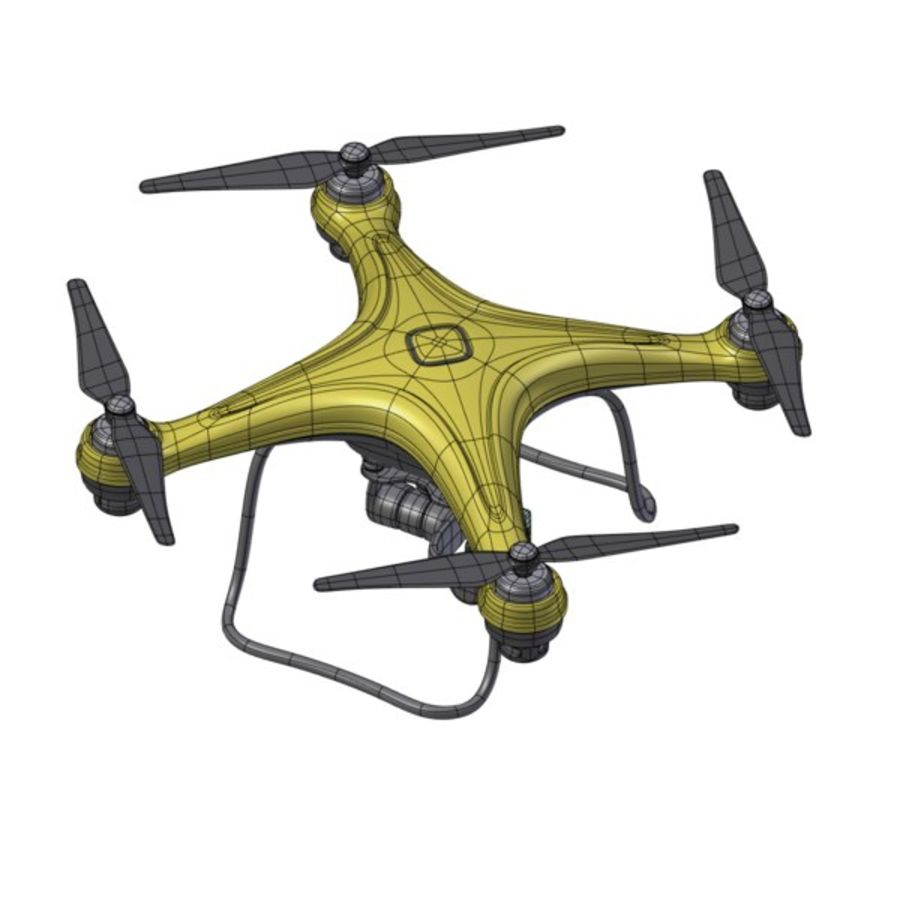 Gneneric Quadcopter Drone V1 royalty-free 3d model - Preview no. 20