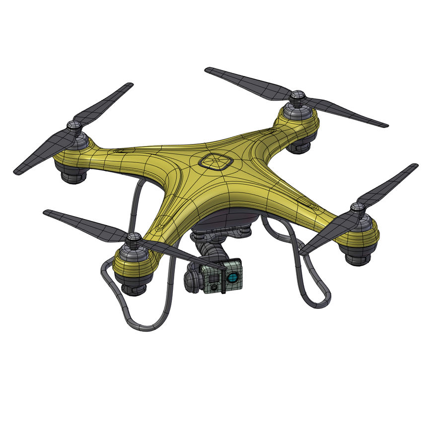 Gneneric Quadcopter Drone V1 royalty-free 3d model - Preview no. 14